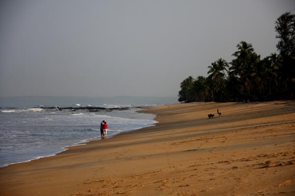 Morning walk along the beach