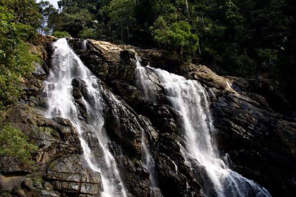 Meenmutty Falls in Wayanad, Kerala